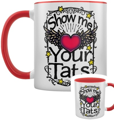 Show Me Your Tats - Red Inner 2-Tone Mug