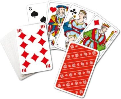 Piquetkarten mit grossen Zahlen - Edelweiss