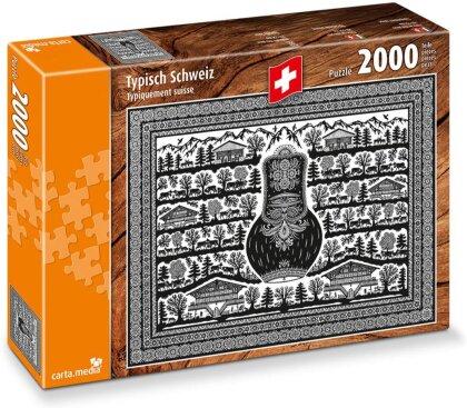 Typisch Schweiz: Scherenschnitt - Puzzle