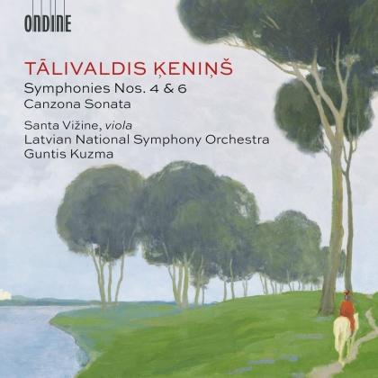 Talivaldis Kenins (1919-2008), Guntis Kuzma, Santa Vizine & Latvian National Symphony Orchestra - Symphonies Nos. 4 & 6 - Canzona Sonata