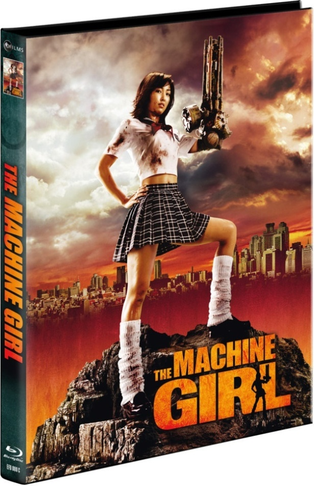 The Machine Girl (2008) (Cover C, Limited Collector's Edition, Mediabook, Uncut, Blu-ray + DVD)