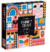 Lisa Congdon Rabbit Quilt 144 Piece Wood Puzzle