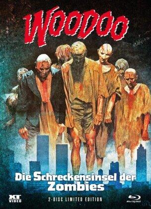 Woodoo - Die Schreckensinsel der Zombies (1979) (Cover 2, Wattiert, Limited Edition, Mediabook, Blu-ray + DVD)