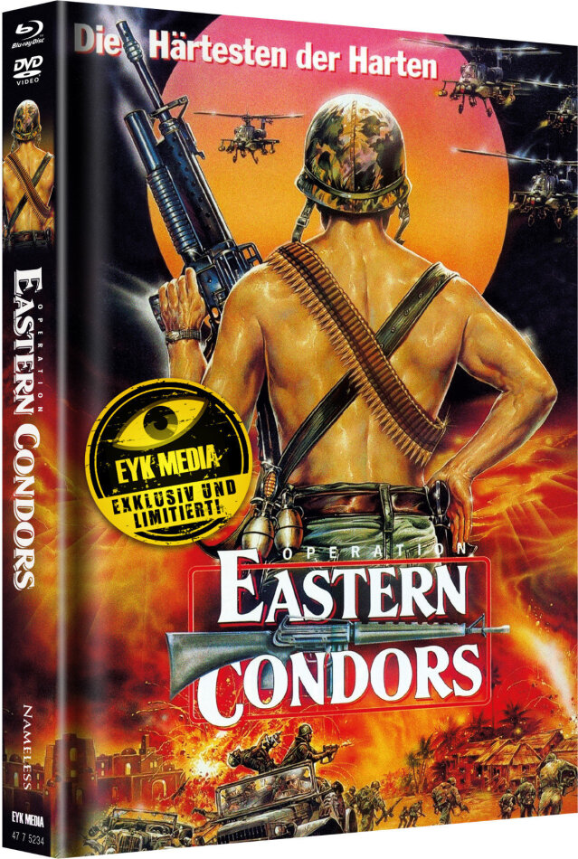 Operation Eastern Condors (1987) (Cover B, Limited Edition, Mediabook, 2 DVDs + 2 Blu-rays)
