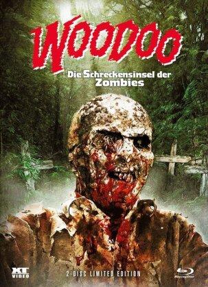 Woodoo - Die Schreckensinsel der Zombies (1979) (Cover 1, Wattiert, Limited Edition, Mediabook, Blu-ray + DVD)
