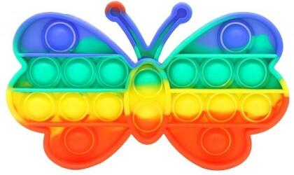 Fidget Push Pop Bubble Toy Rainbow Butterfly /Schmetterling .
