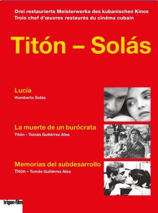Titón - Solás - Lucía / La morte de un burócrata / Memorias del subdesarrollo (Trigon-Film, 3 DVDs)