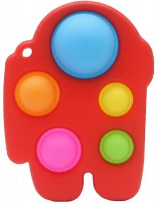 Fidget Push Pop Bubble Pad Red 14 x 11 cm .