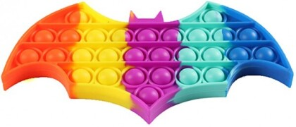 Fidget Push Pop Bubble Toy Bat Rainbow .