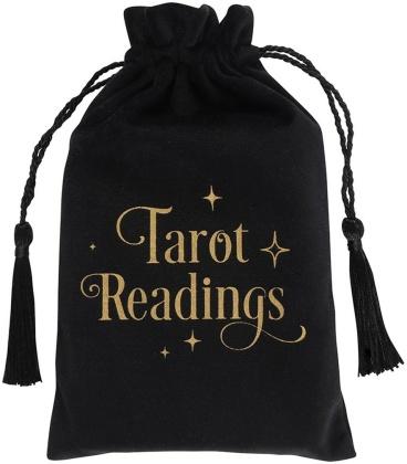 Tarot Readings Black Drawstring Pouch