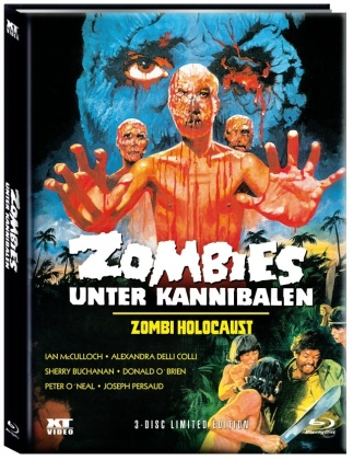 Zombies unter Kannibalen - Zombi Holocaust (1980) (Cover A, Limited Edition, Mediabook, Blu-ray + DVD)