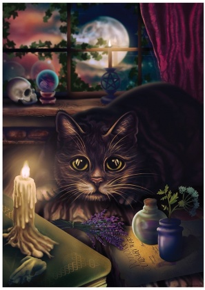 Feline Familiar Mini Poster