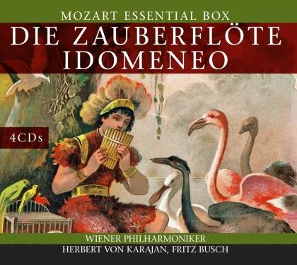 Wolfgang Amadeus Mozart (1756-1791), Herbert von Karajan, Hans Busch & Wiener Philharmoniker - Die Zauberflöte - Idomeneo (4 CDs)