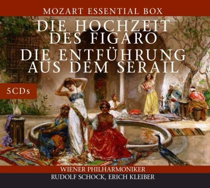 Wolfgang Amadeus Mozart (1756-1791), Carlos Kleiber, Rudolf Schock & Wiener Philharmoniker - Hochzeit Des Figaro - Entführung Aus Dem Serail (5 CDs)