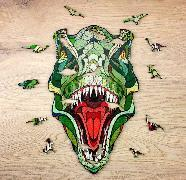Holzpuzzle T-Rex mit Spieltieren