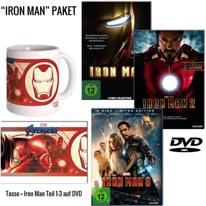 Iron Man Trilogie (+ Tasse, 3 DVDs)