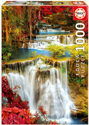 Wasserfall im Wald - 1000 Teile Puzzle