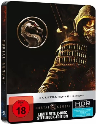 Mortal Kombat (2021) (Limited Edition, Steelbook, Blu-ray + 4K Ultra HD)