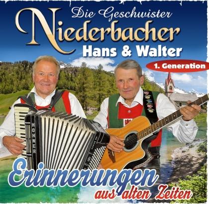 Die Geschwister Niederbacher - Erinnerungen aus alten Zeiten (2 CDs)
