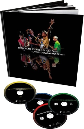 The Rolling Stones - A Bigger Bang - Live on Copacabana Beach (Earbook, Remixed, Limited Deluxe Edition, Remastered, Restaurierte Fassung, 2 DVDs + 2 CDs)