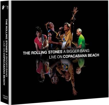 The Rolling Stones - A Bigger Bang - Live on Copacabana Beach (Remixed, Digipack, Remastered, Restaurierte Fassung, DVD + 2 CDs)