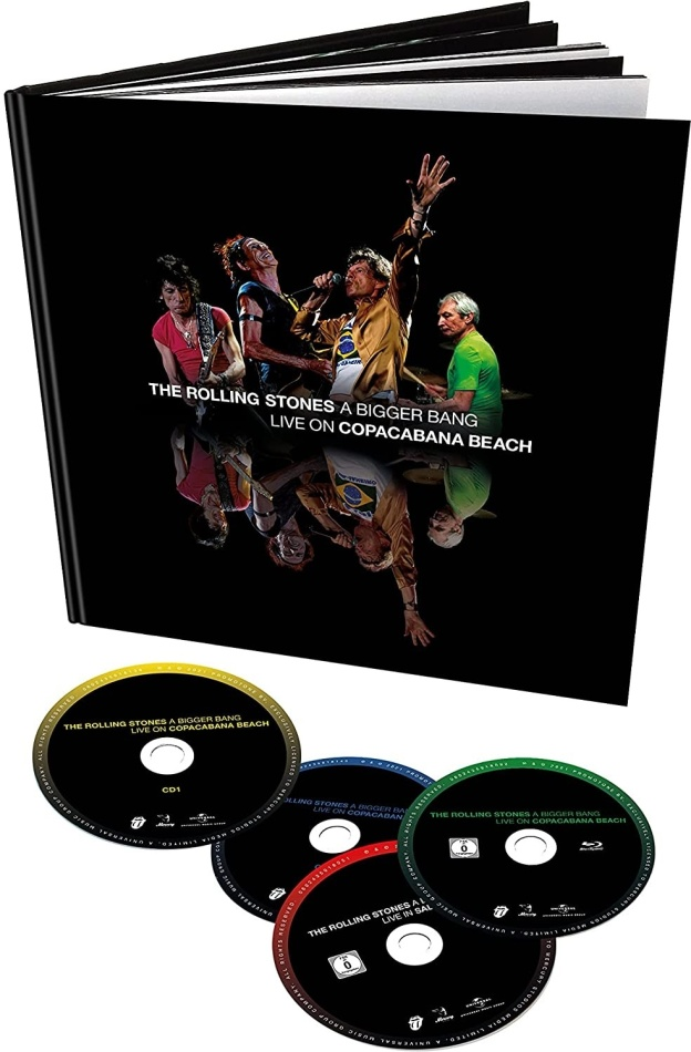 The Rolling Stones - A Bigger Bang - Live on Copacabana Beach (Earbook, Remixed, Limited Deluxe Edition, Remastered, Restaurierte Fassung, 2 Blu-rays + 2 CDs)
