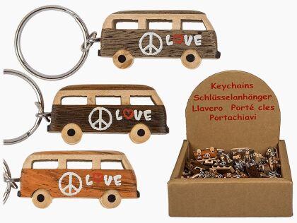Hippie-Bus Schlüsselanhänger - 1 Stück, assortiert