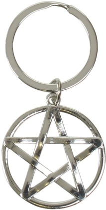 Black Magic Keyring - Pentagram