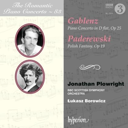 Jerzy Gablenz (1888-1937), Ignacy Jan Paderewski (1860-1941), Lukasz Borowicz, Jonathan Plowright & BBC Scottish Symphony Ochestra - Romantic Piano Concerto - 83