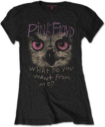 Pink Floyd Ladies T-Shirt: Owl - WDYWFM?