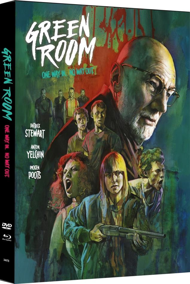 Green Room (2015) (Cover A, Edizione Limitata, Mediabook, Blu-ray + DVD)