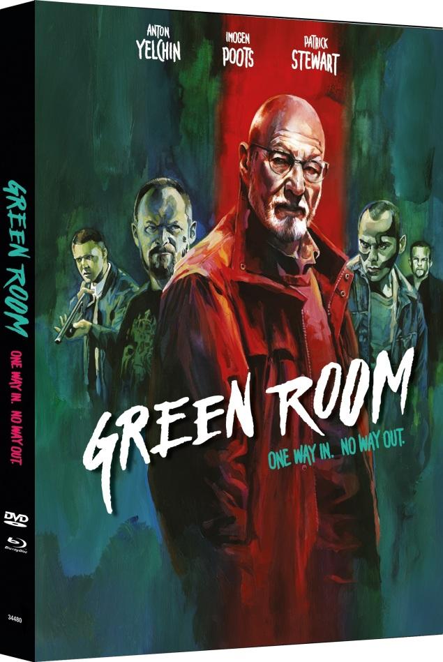Green Room (2015) (Cover B, Edizione Limitata, Mediabook, Blu-ray + DVD)