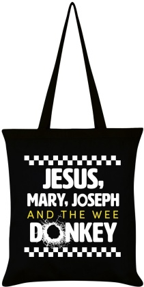 Jesus, Mary, Joseph and the Wee Donkey - Tote Bag
