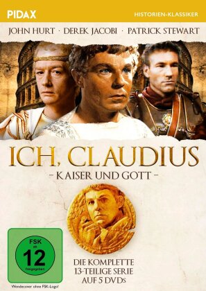 Ich, Claudius - Kaiser und Gott - Die komplette 13-teilige Serie (Pidax Historien-Klassiker, 5 DVDs)