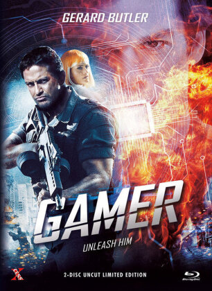 Gamer (2009) (Cover C, Limited Extended Edition, Mediabook, Uncut, Blu-ray + DVD)