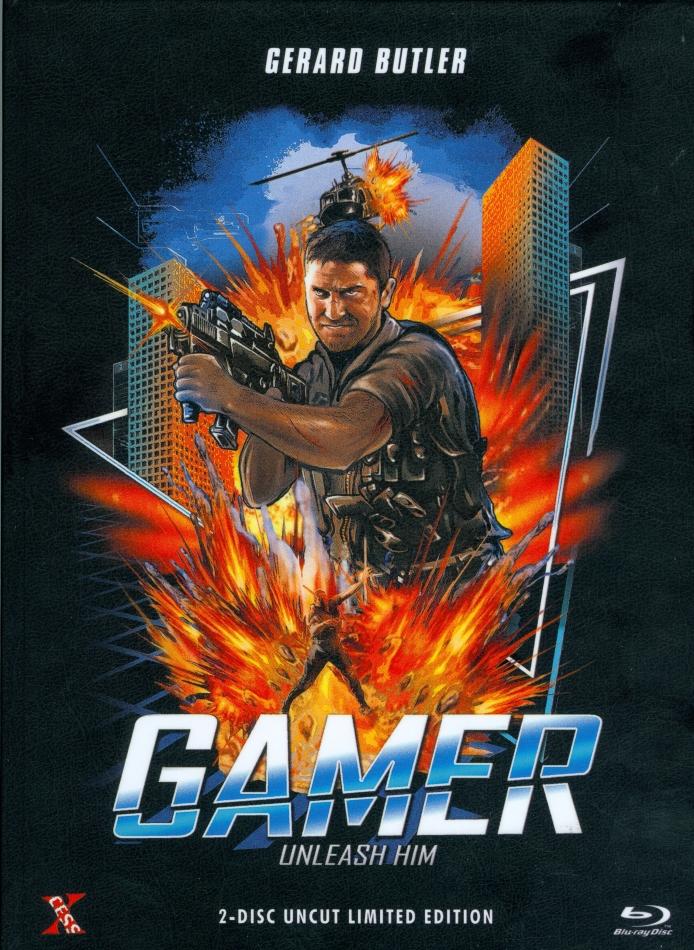 Gamer (2009) (Cover B, Edizione Limitata, Mediabook, Uncut, Blu-ray + DVD)