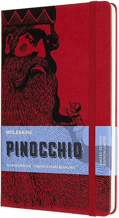 Pinocchio Notebook Large plain red