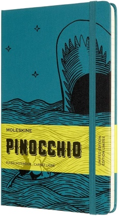 Pinocchio Notebook Large ruled green