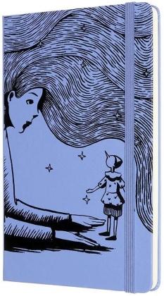 Pinocchio Notebook Large plain blue