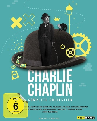 Charlie Chaplin - Complete Collection (10 Blu-rays + 2 DVDs)
