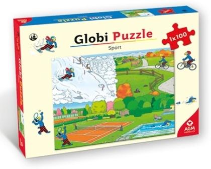 Globi: Sport - 100 Teile Puzzle