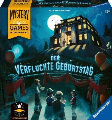 Ravensburger Familienspiel – 26948 Mystery Games - Der verfluchte Geburtstag – kooperatives Geschichten-Mystery-Spiel für 2-4 Spieler ab 12 Jahren