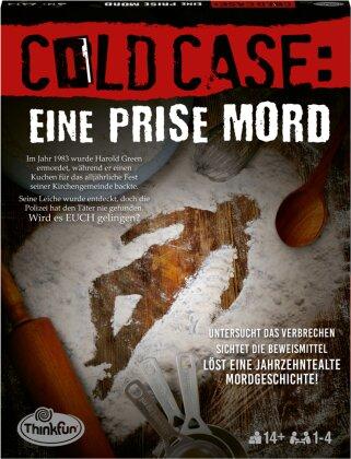 ThinkFun - 76465 - Cold Case: Eine Prise Mord. Der zweite Cold Case Krimi im eigenen Heim. Wer findet den Mörder? Ein Rätsel-Spiel für Einen oder in der Gruppe ab 14 Jahren
