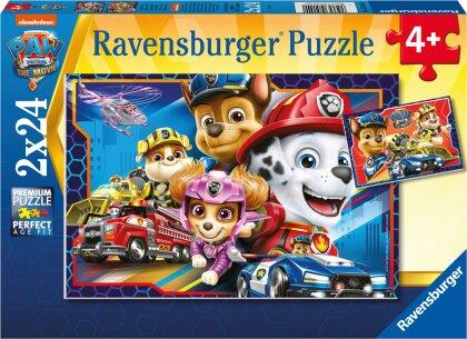 Ravensburger Kinderpuzzle 05154 - Allzeit bereit! - 2x24 Teile PAW Patrol Puzzle für Kinder ab 4 Jahren