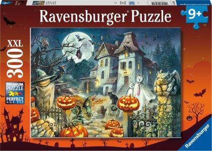 Ravensburger Kinderpuzzle 13264 - Das Halloweenhaus 300 Teile XXL - Puzzle für Kinder ab 9 Jahren