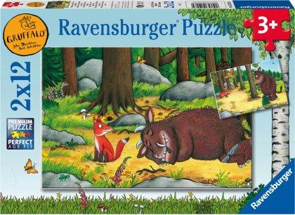 Ravensburger Kinderpuzzle 05226 - Grüffelo und die Tiere des Waldes - 2x12 Teile Puzzle für Kinder ab 3 Jahren