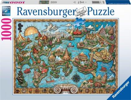 Ravensburger Puzzle 16728 - Geheimnisvolles Atlantis - 1000 Teile Puzzle für Erwachsene und Kinder ab 14 Jahren