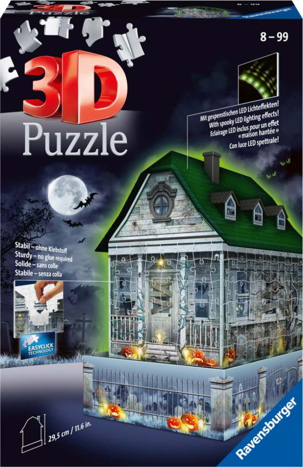 Gruselhaus bei Nacht - 216 Teile 3D Puzzle