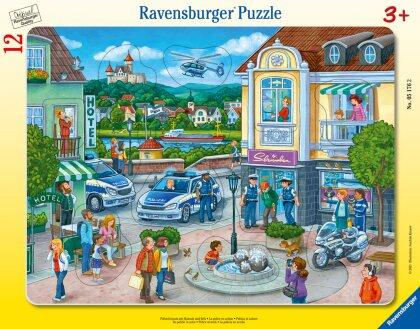 Ravensburger Kinderpuzzle 05176 - Polizeieinsatz mit Hannah und Erik - 8-17 Teile Rahmenpuzzle für Kinder ab 3 Jahren