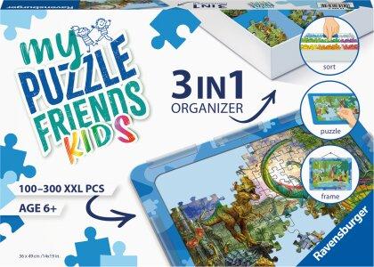 Ravensburger 3in1 Organizer 13274 - Kinderpuzzle Organizer Blau - für Kinder ab 6 Jahren